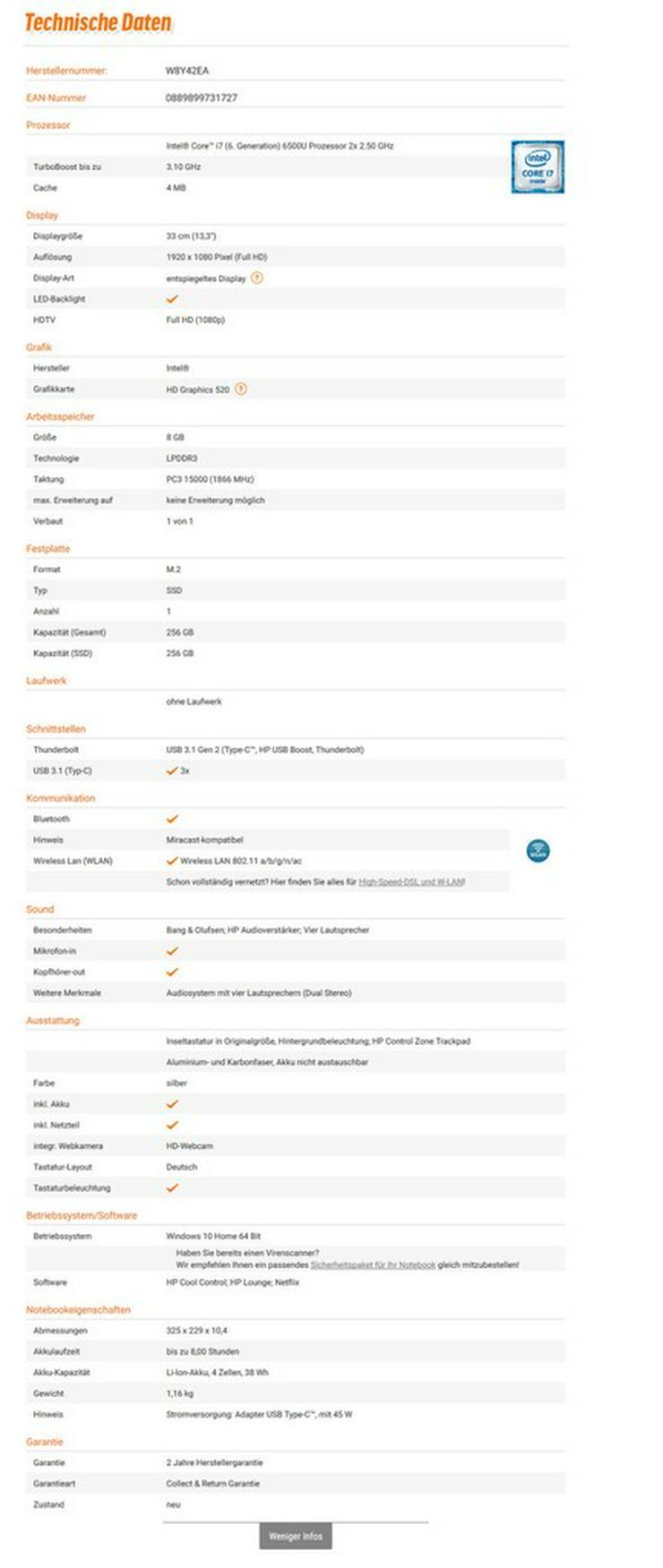 Bild 4: HP Spectre 13-v002ng 13,3'' Full-HD Ultrabook