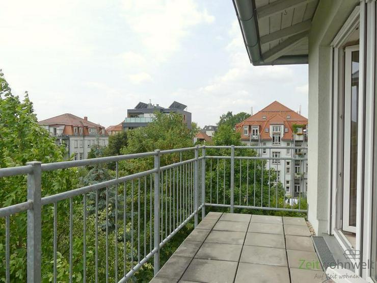 (EF0417_M) Dresden: Striesen-Ost, warme Sonne oder kühler Schatten? möblierte DG-Wohnung... - Wohnen auf Zeit - Bild 1