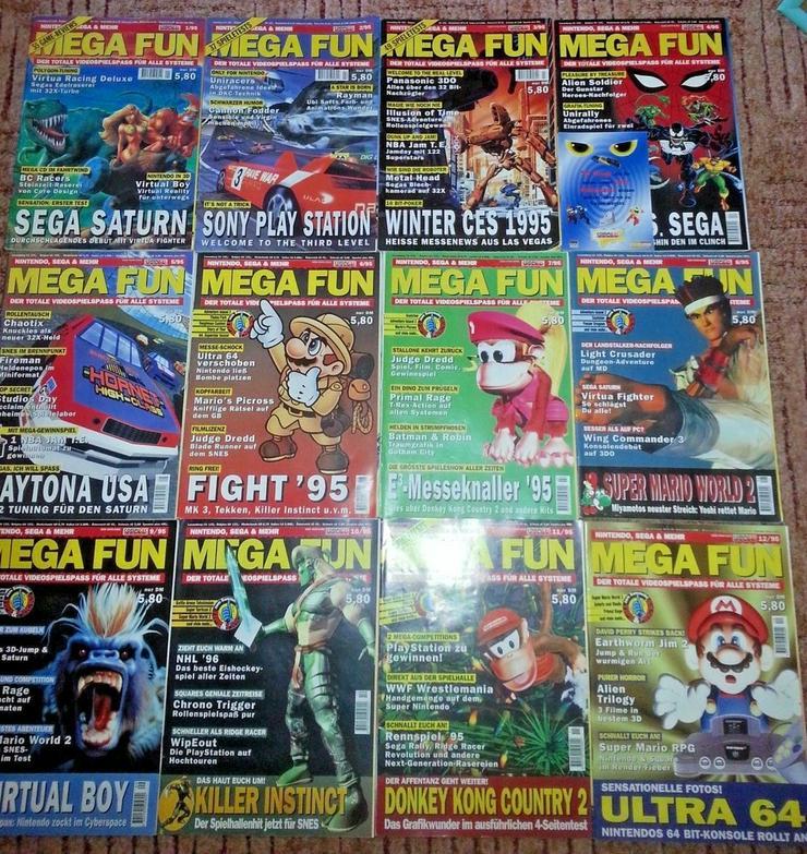Retro/Kult - MEGA FUN Kompl. Ausgabe 1/95-12/95