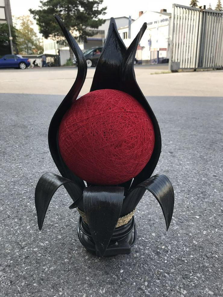 Tischlampe aus kokosholz