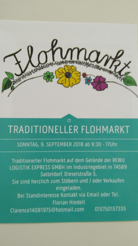 Traditioneller Flohmarkt 9.9.2018 in Satteldorf