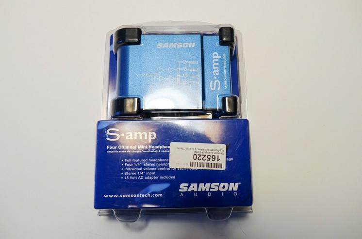 Mikrofonverstärker SAMSON S-amp 4 Kanal NEU