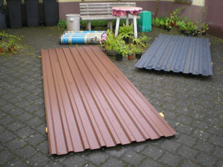 Trapezbleche für Dachsanierung + Regenwasser