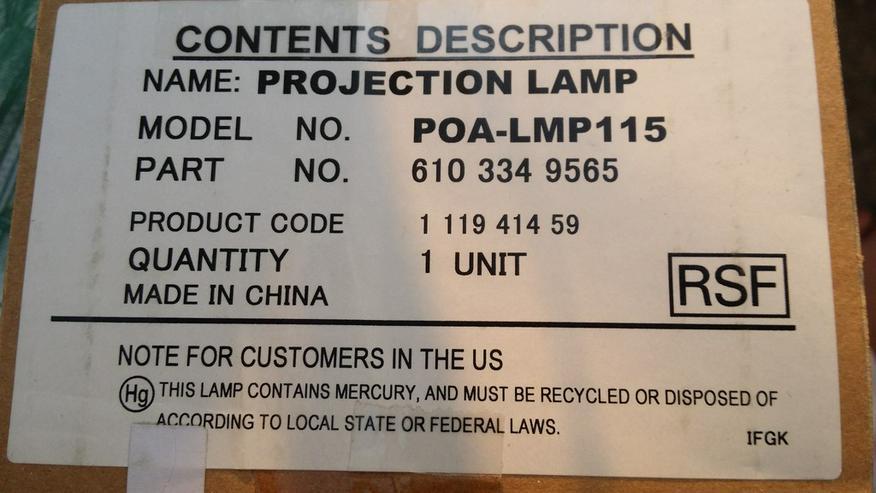 Sanyo Original Ersatzlampe POA-LMP115
