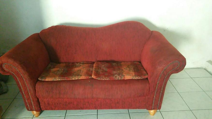 Sofa 2 sitzer rotbraun gut erhalten