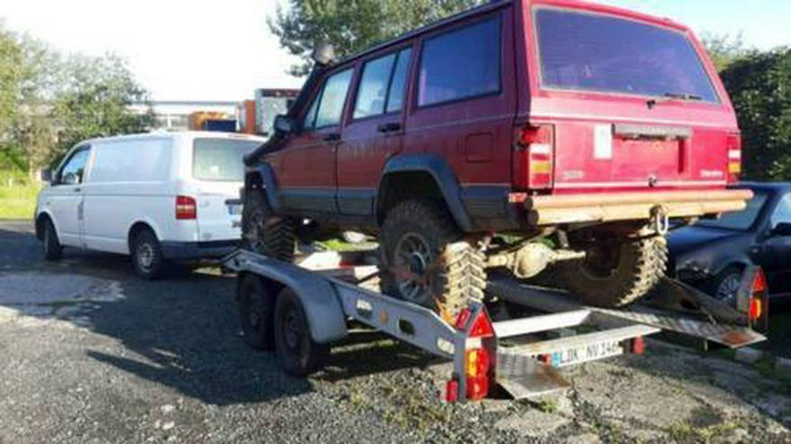 Bild 3: Anhänger-Autotransporter Kippbar Miete Verleih