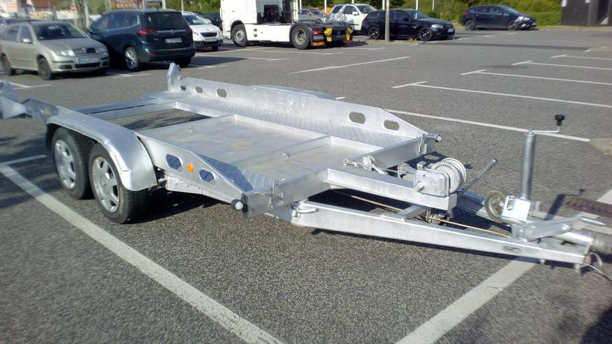 Anhänger-Autotransporter Kippbar Miete Verleih