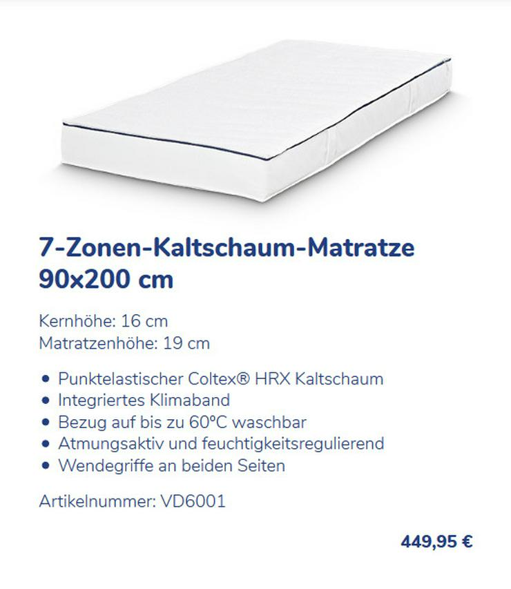 Bild 6: Dunlopillo Active Matratze 7-Zonen-Gelschaum
