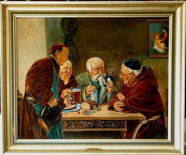 Gemälde Eduard von Grützner ca. 1900 (B007)