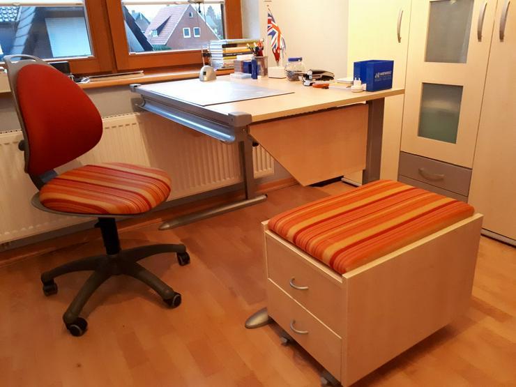 Schreibtisch Kettler,Drehstuhl u. Rollcontainer