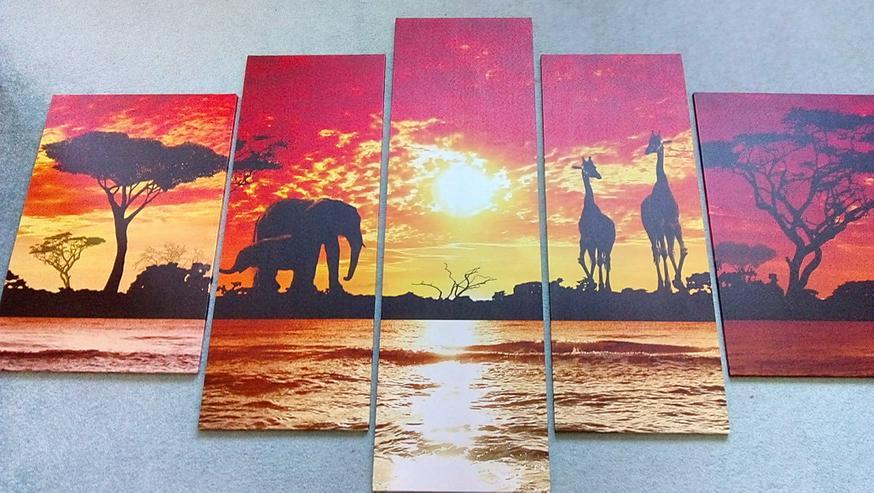 5 teiliges Afrika Bilderset zu verkaufen