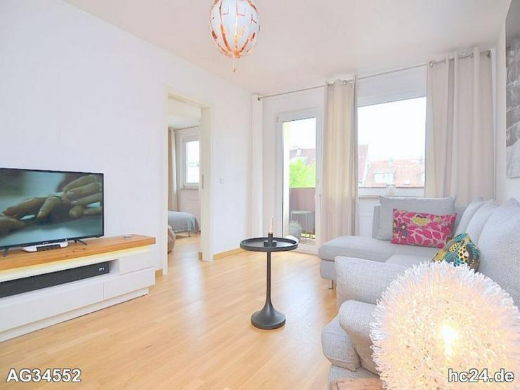 Bild 6: Exklusiv möblierte 2-Zi.-Wohnung mit WLAN und Balkon in Nürnberg/Hummelstein