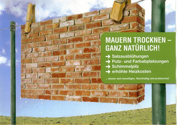 Bild 2: Mauertrockenlegung zu festen Preisen