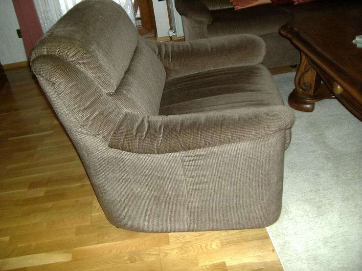2,3 Sitzer Couch und 1 Sessel dunkelbraun