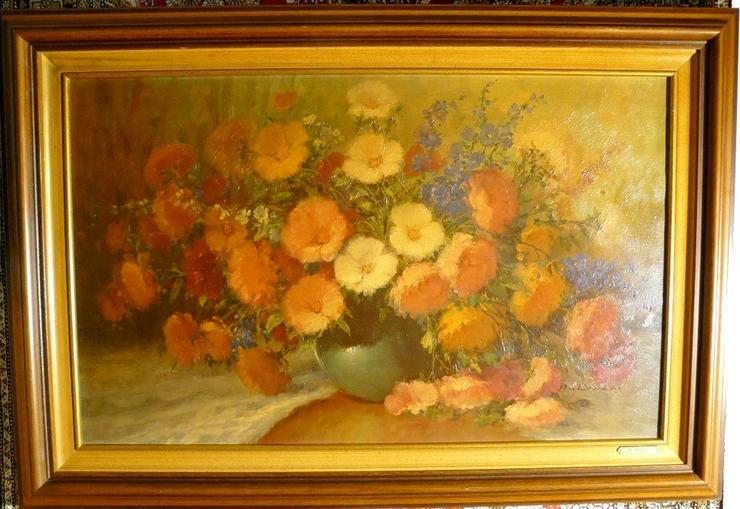Blumenstilleben, Öliographie 97x67 (B050)