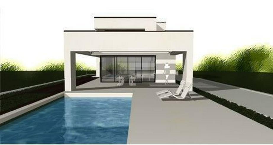 Bild 3: : Baugrundstück in Vallgornera mit Projekt Villa Noura