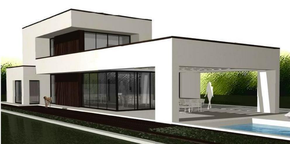 Bild 6: : Baugrundstück in Vallgornera mit Projekt Villa Noura