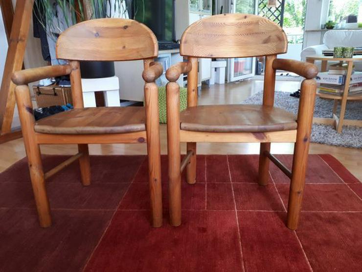 2 Vollholzstühle mit Armlehne - Bild 1