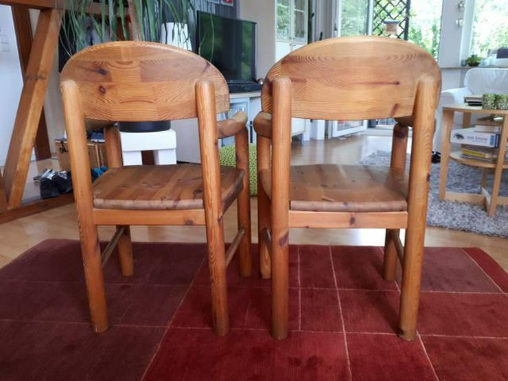Bild 2: 2 Vollholzstühle mit Armlehne