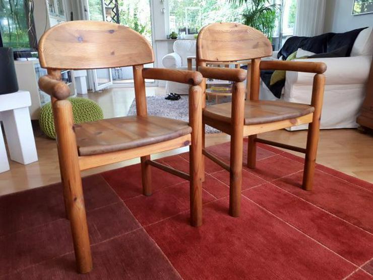 Bild 3: 2 Vollholzstühle mit Armlehne