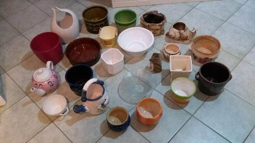 Blumen-Übertöpfe und Keramik-Deko zu verkaufen
