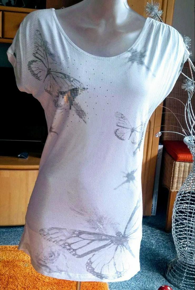Damen Tunika Sommer Shirt Gr.S in Weiß von Okay