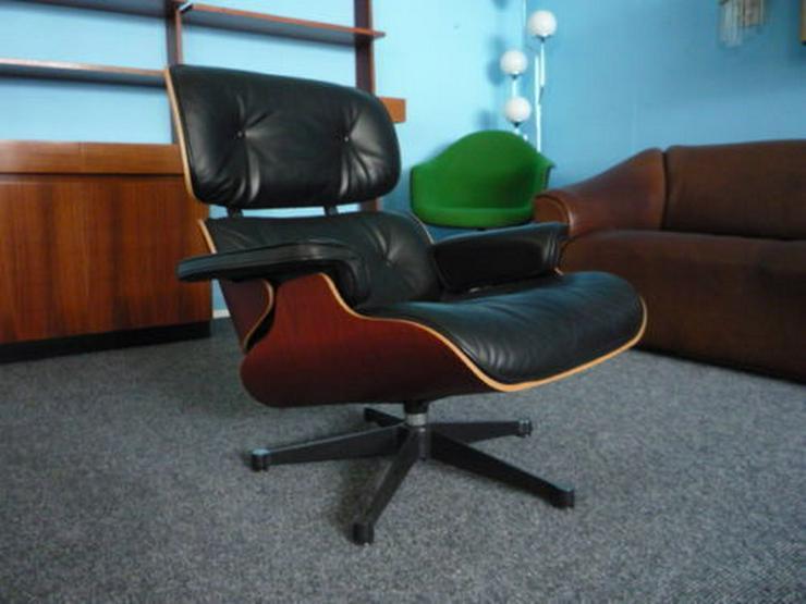 Charles Eames Lounge Leder Kirsche Original - Häcksler - Bild 1
