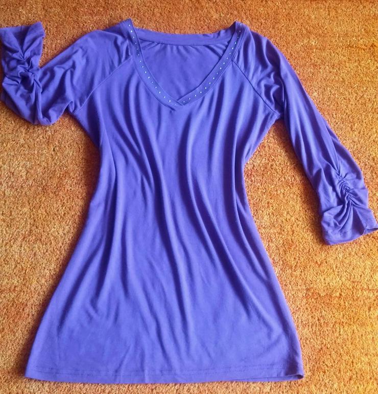 Damen Shirt Jersey Glitzer Verzehr Gr.S