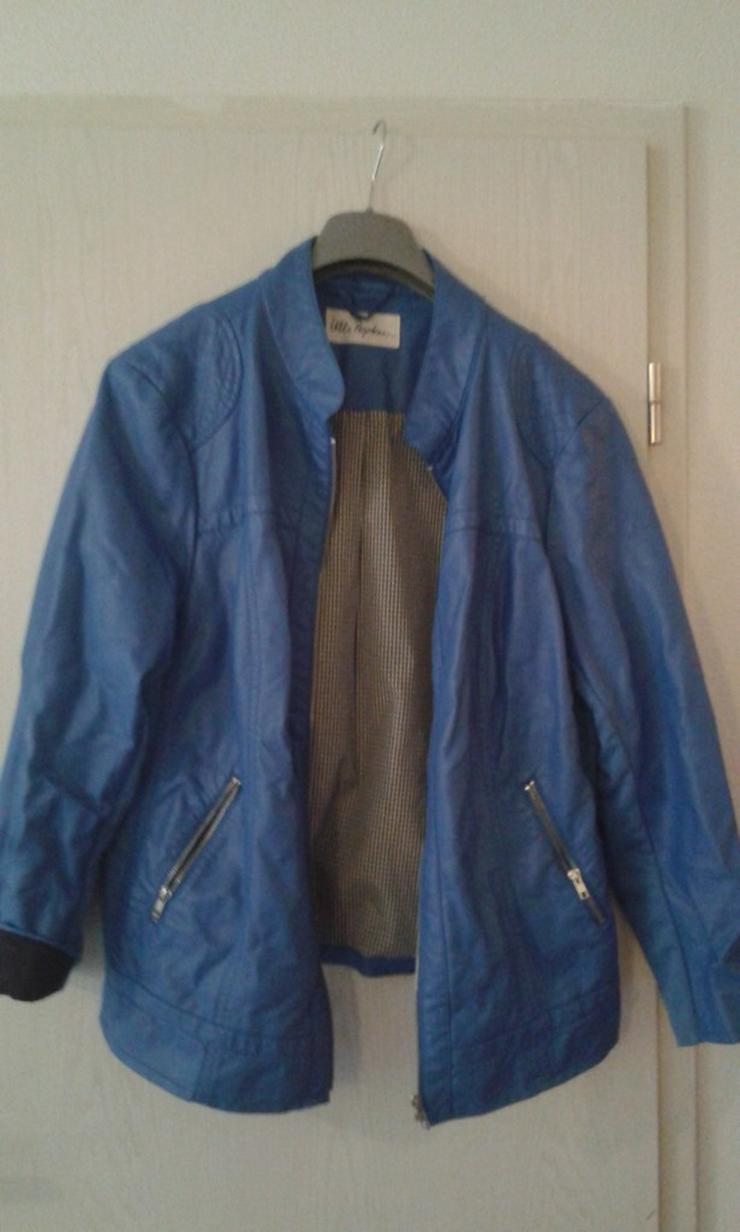 blaue Bikerjacke von Ulla Popken