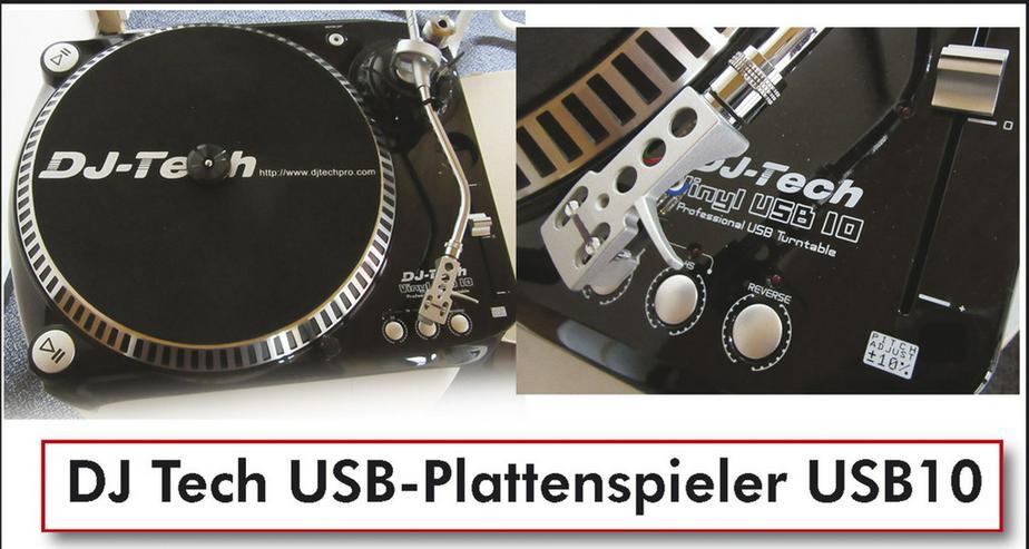 DJ Tech USB-Plattenspieler USB10