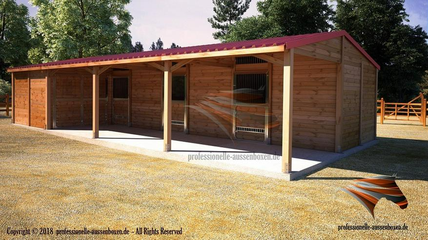 Aussenboxen, Pferdeställe, Pferdeboxen, Weidehütte, Offenstall, Weideunterstand, Pferdeunterstand