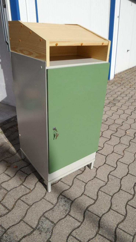 Stehpult - Metall Schreibaufsatz Holz