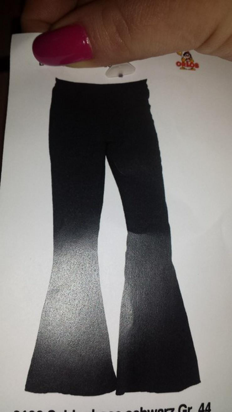 schwarze Hose Bootcut, Schlag fein,festlich