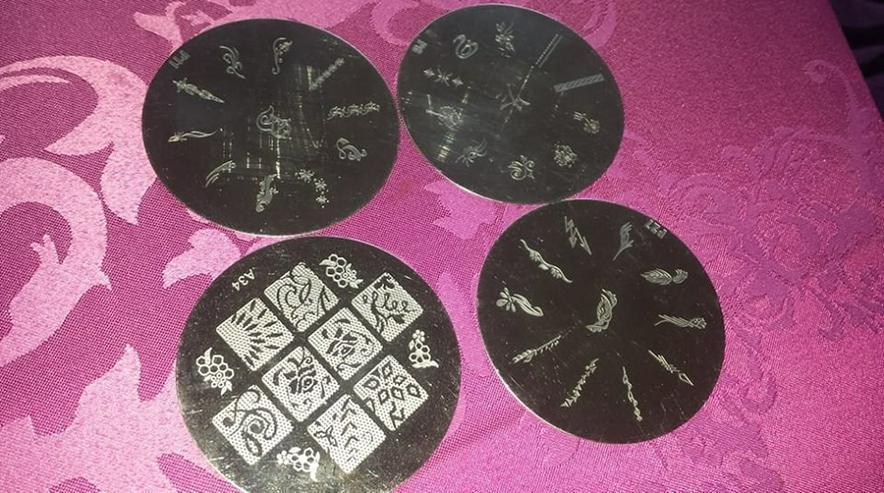 Bild 14: Samping/Stempelschablonen 70 Stück nailart