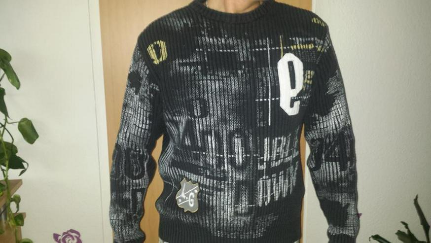 Pullover, Herren, Stylisch, gr. M schwarz - Größen 48-50 / M - Bild 1