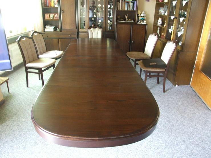 Bild 3: Esszimmer Tisch bis 3,50m ausziehbar!