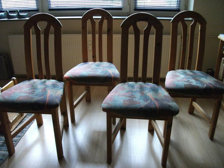 4 hochwertige Massivholz-(Esszimmer)Stühle