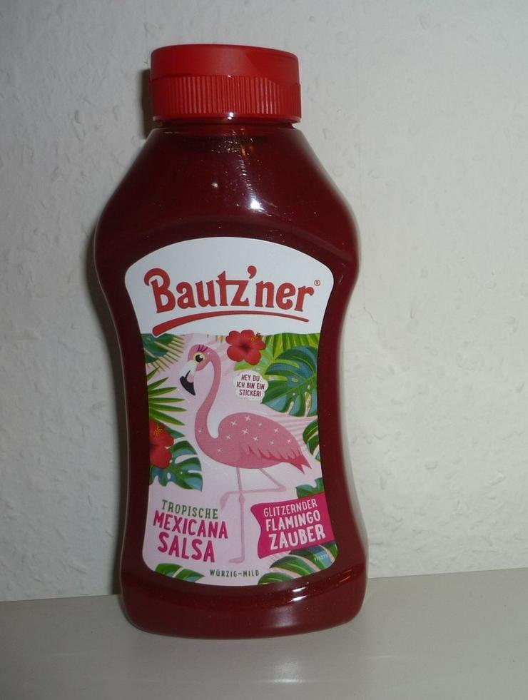 Neu  Bautzner Flamingo Zauber Glitzer Ketchup
