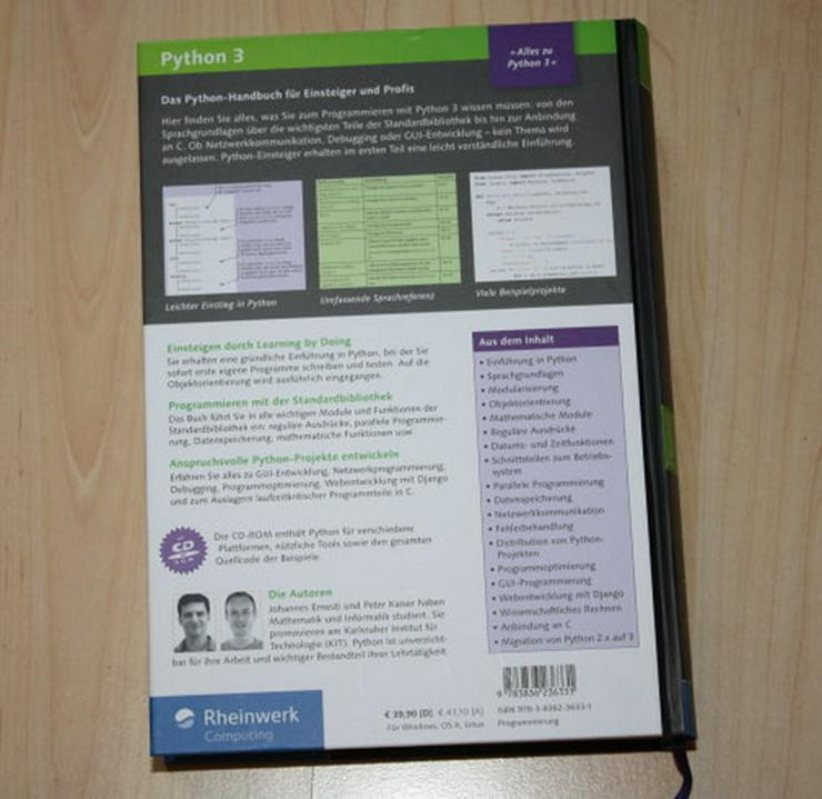 Bild 2: Python 3 Das umfassende Handbuch Programmierung