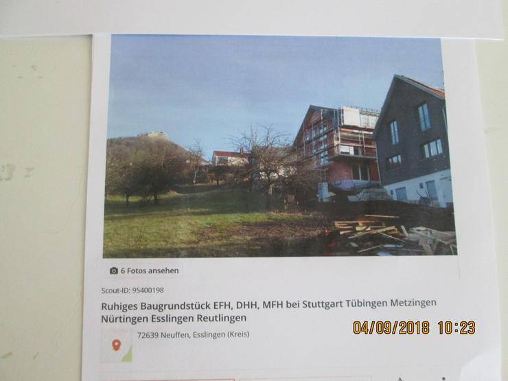 Bild 3: Baugrundstück in Neuffen für EFH, DHH -MFH