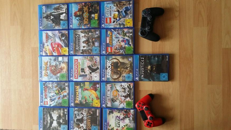 Playstation 4 Spiele und Controller