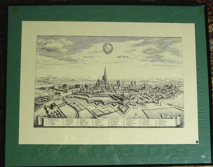 Alter Kupferstich von Straßburg 50x40 (B052) - Poster, Drucke & Fotos - Bild 1