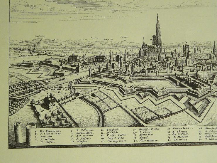 Bild 2: Alter Kupferstich von Straßburg 50x40 (B052)