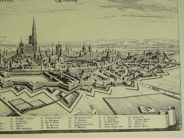 Bild 3: Alter Kupferstich von Straßburg 50x40 (B052)