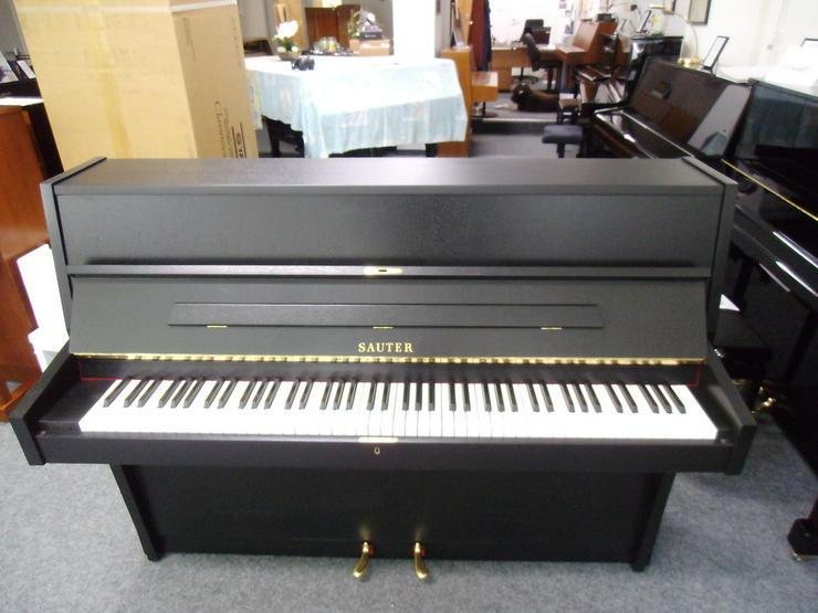 gebrauchtes SAUTER Klavier schwarz matt