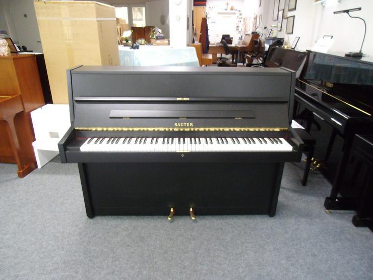 Bild 2: gebrauchtes SAUTER Klavier schwarz matt