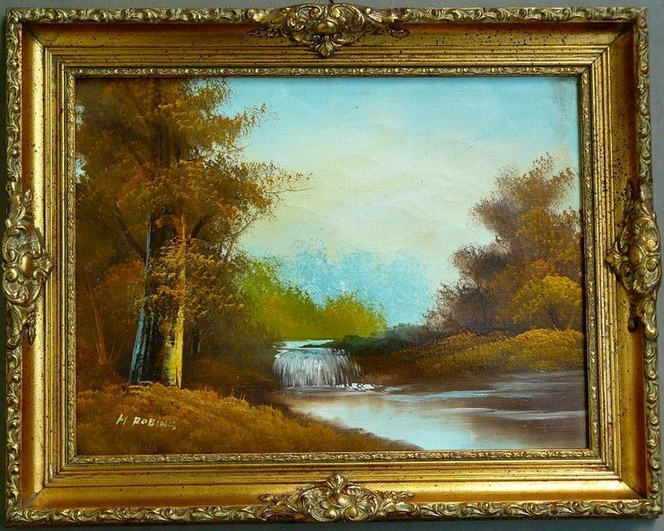 Gemälde Ölgemälde Gebirgslandschaft (B059)
