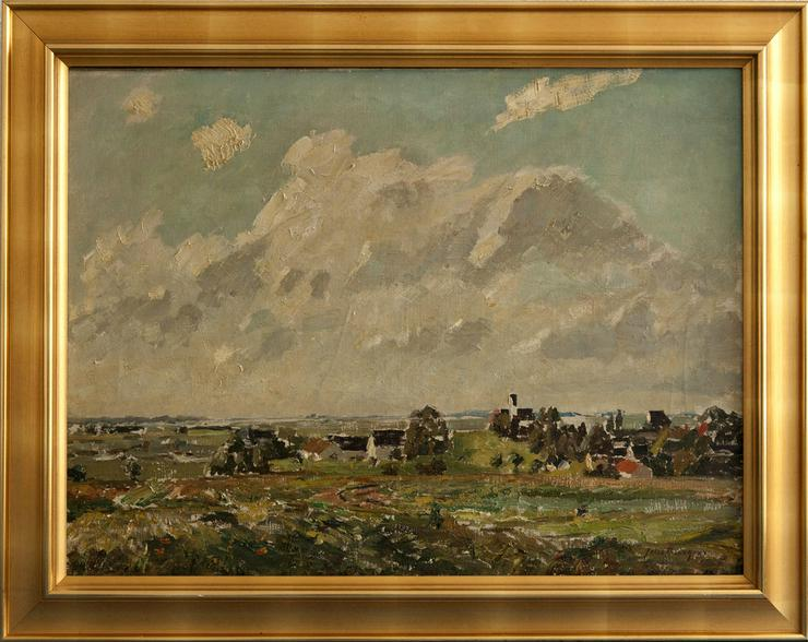 Gemälde FELIX BÜRGERS (1870), Morgen in Dachau - Gemälde & Zeichnungen - Bild 1