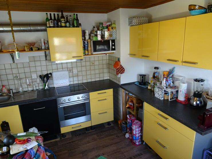 Küche Mangogelb Herd Spüle Möbel Rieger Top!