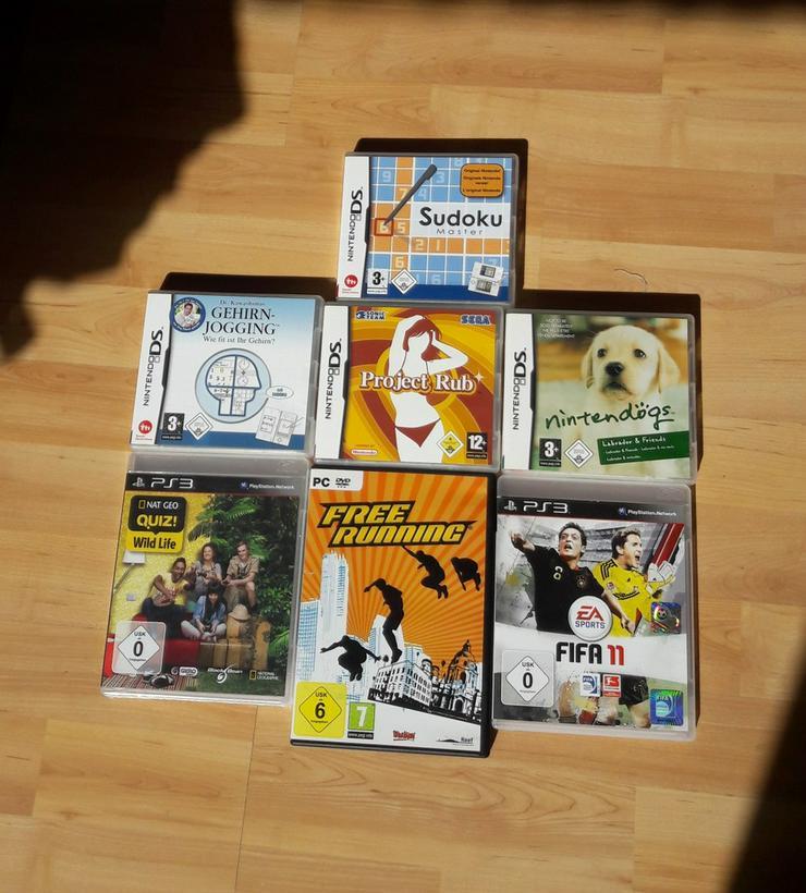 Diverse Videospiele für PC, Nintendo DS und PS3